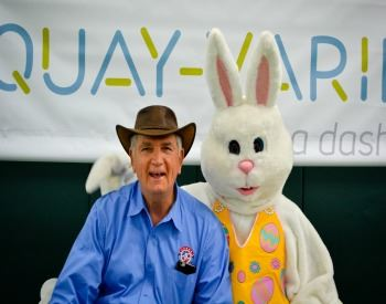 Easter Bunny with Mayor Byrne
