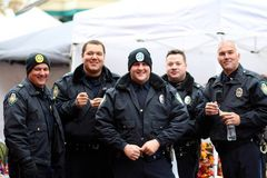 Police Officers At A Chili Cook-Off