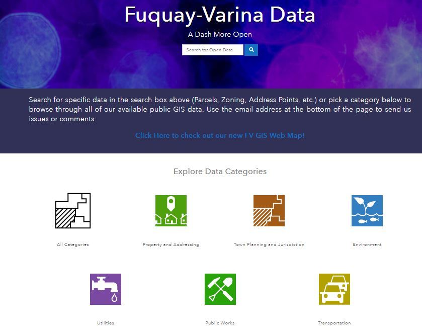 Open Data Site Screenshot