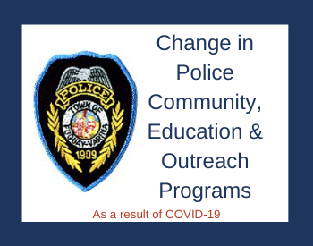Change in Police Community Education Outreach Programs