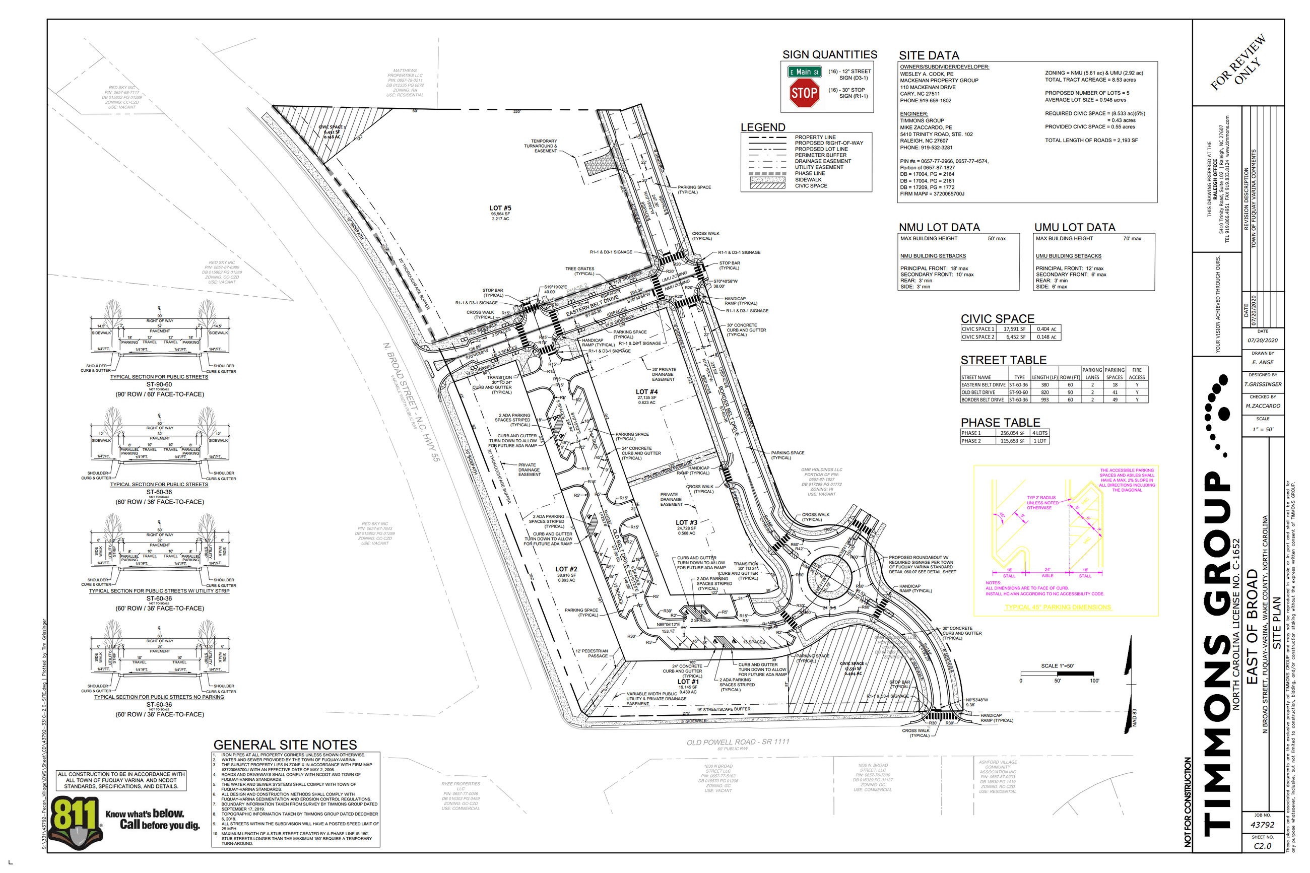 East of Broad- Subdivision Plan