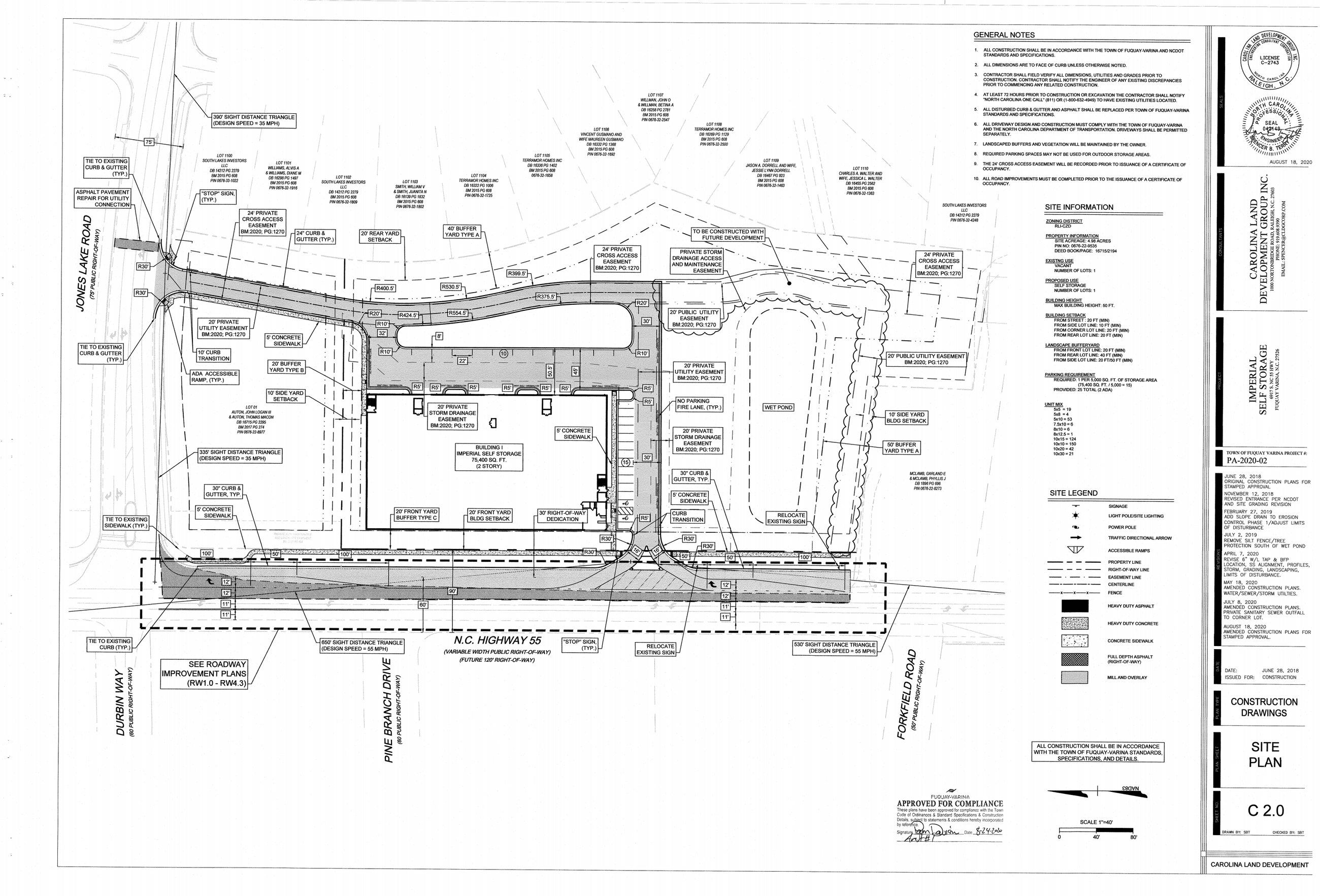 Imperial Self Storage Amdt 1 - Site Plan