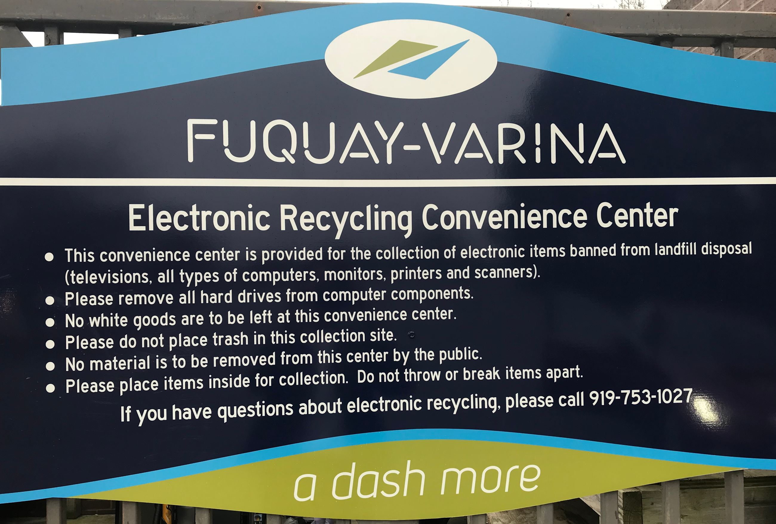 Electronic Recycling Sign