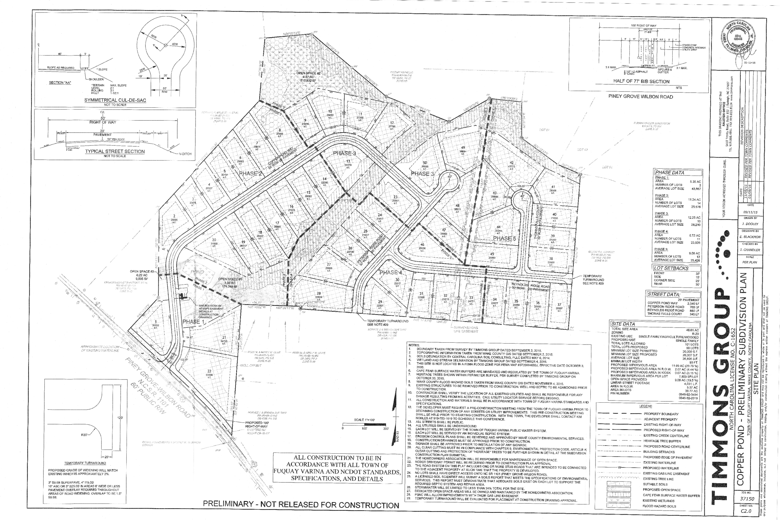 Copper Pond Subdivision Plan