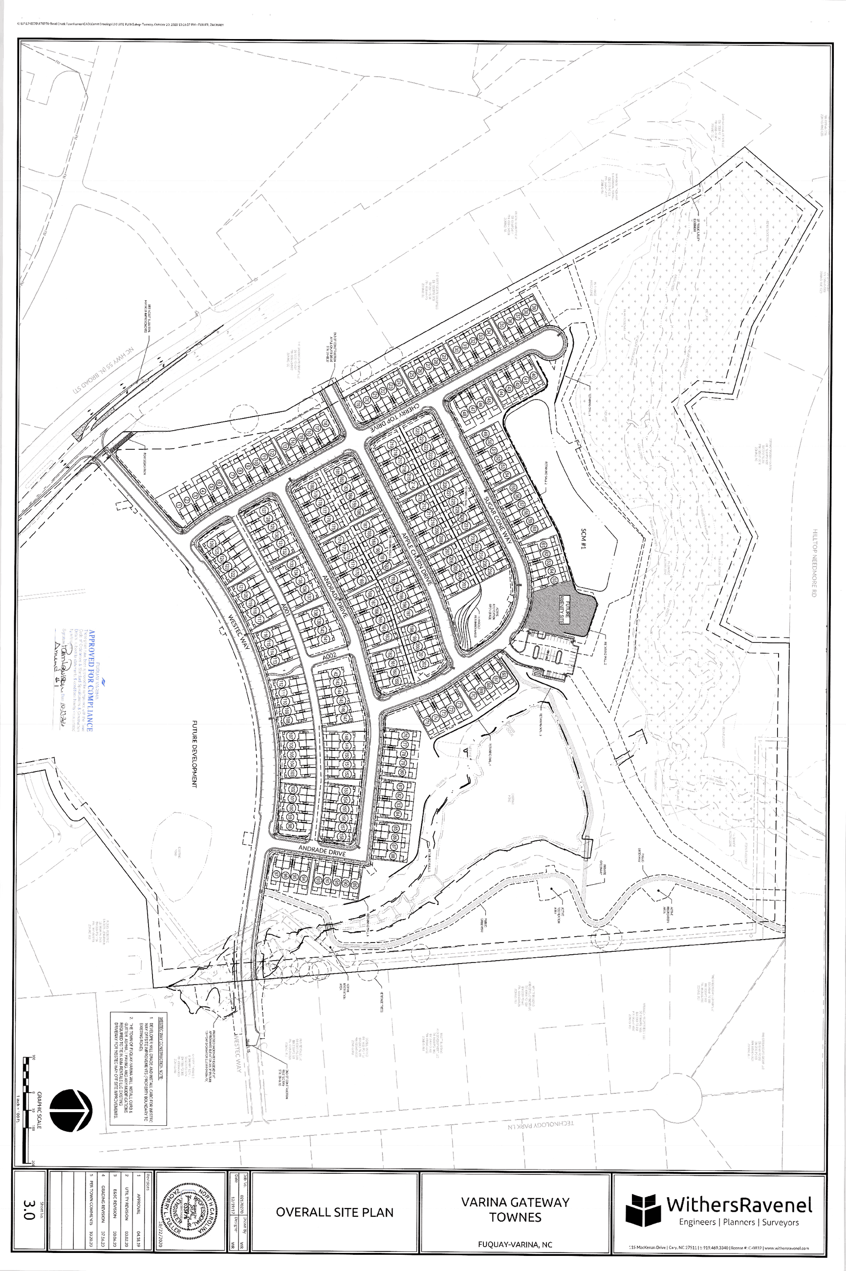Varina Gate way Townes Site Layout