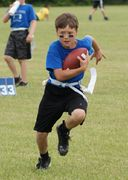 Person Playing Flag Football