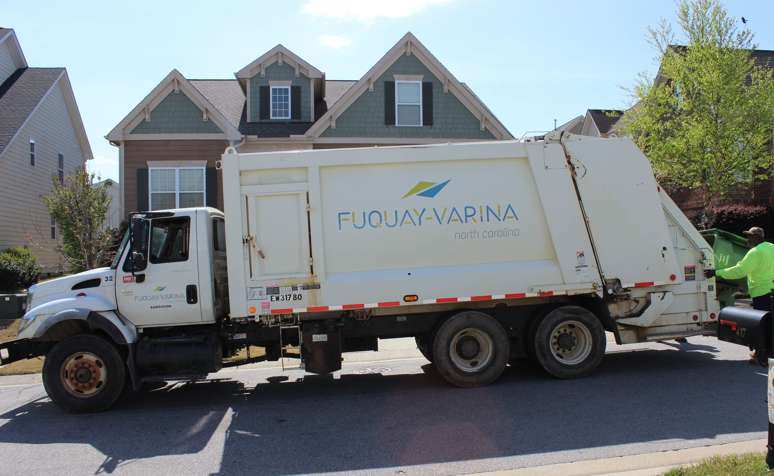 Town of Fuquay-Varina garbage truck