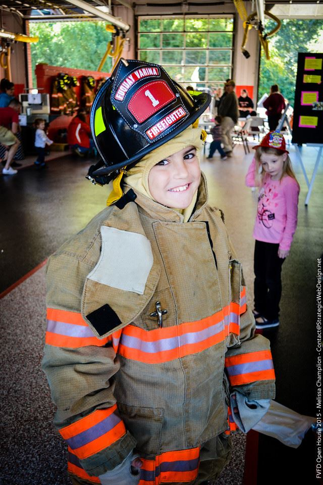 Little Boy In Turn Out Gear - Open House