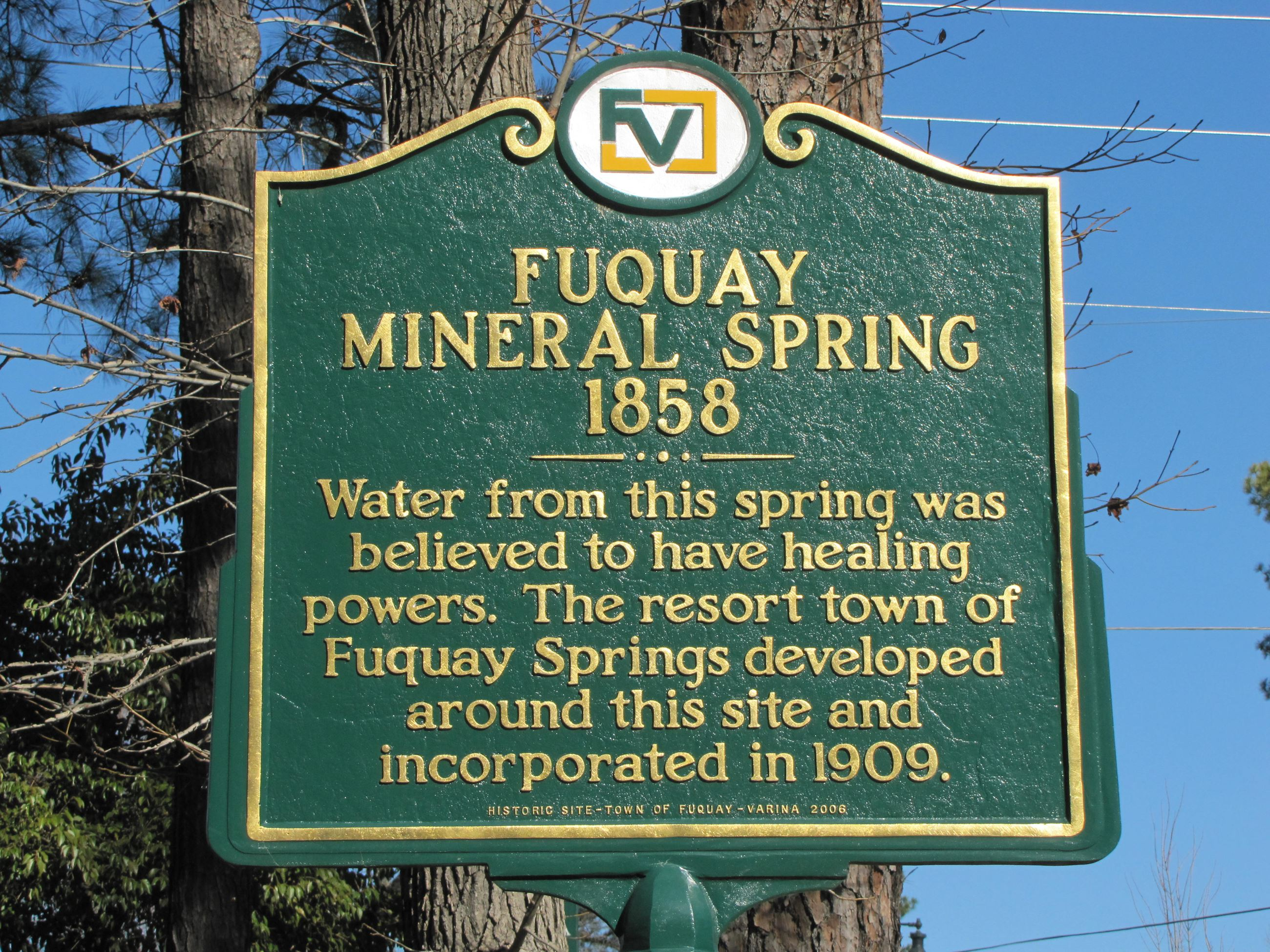 Fuquay Mineral Spring  historical marker